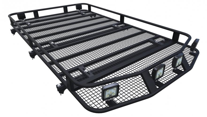 багажник на рейлинги митсубиси паджеро 4fico